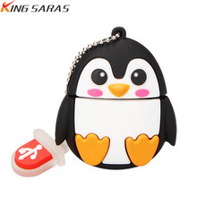new cartoon cute penguin owl fox pen USB flash drive pendrive 4GB 8GB 16GB 32GB 64GB memory stick animal U disk free shipping
