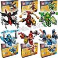 6 unids/set 522 unids 14001 caballeros combinación ladrillos modelo bloques de construcción de juguetes de los nuevos niños venta caliente nexus compatible con lego