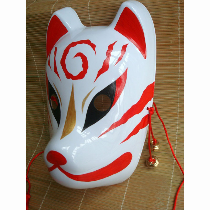 Aliexpress Com Buy Hand Painted Pvc Fox Style Japanese Anime Mask Full Face Cosplay Party Mask