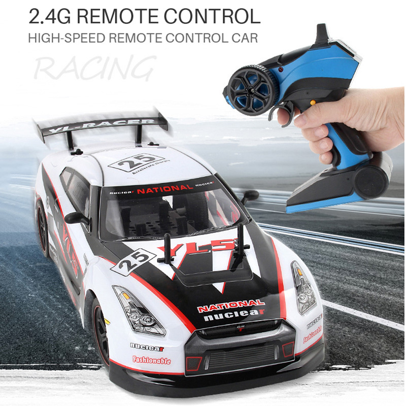 2.4GRC Remote Control Car 1:10 Rechargeable Electric Four-Wheel Drive Drift Racing Professional Racing High-Speed Car Toy Car 1 10 rc car high speed racing car 2 4g subaru 4 wheel drive radio control sport drift racing car model electronic toy