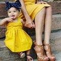 2017 niños de la manera ropa de los niños de la princesa vestidos de fiesta del niño baby girl dress tutu dress sólido