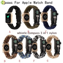 outdoor Sports Nylon watchband Strap For Apple Watch band series 1/2/3 /4 wristband wrist watch belt for iwatch 4 Double color