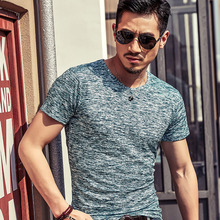 Hot Sale New Men T Shirt 2018 Summer Fashion O-Neck Short-Sleeved Slim Print T-Shirt Plus Size Man Casual Undershirt Top Tees