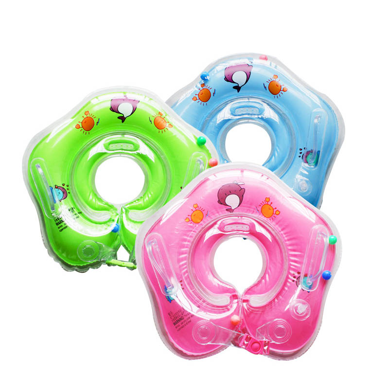 Inflatable Circle New Born Infant Adjustable Swimming Neck Baby Swim Ring Float Ring Safety Double Protection  B2C Shop