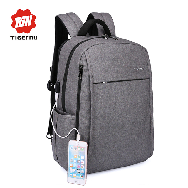 2017 New Design Tigernu Anti-thief USB charging 15.6″ laptop Compute backpack for women male Backpack school Bag for Men Mochila