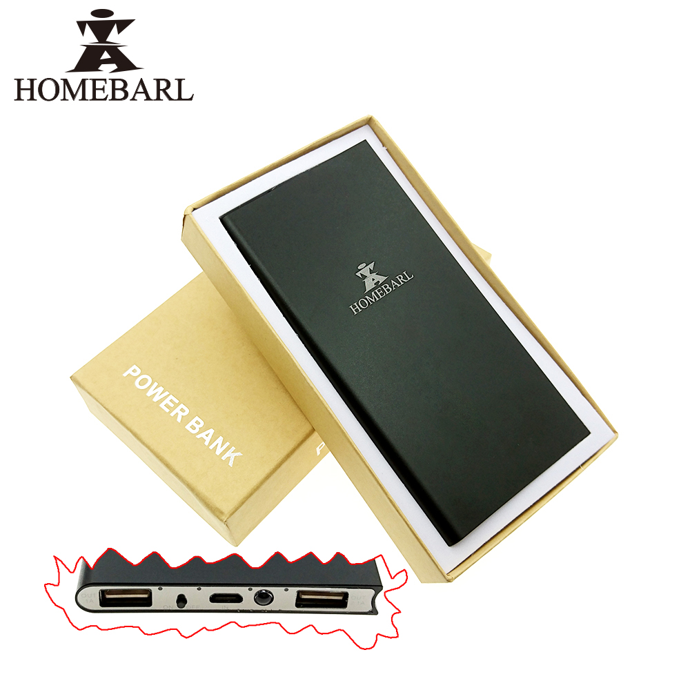 Original HOMEBARL Brand 3 Times Charger For iphone 5S 1500Mah Battery,9MM Portable 3 Modes LED 8000mah Power Bank External 9B5
