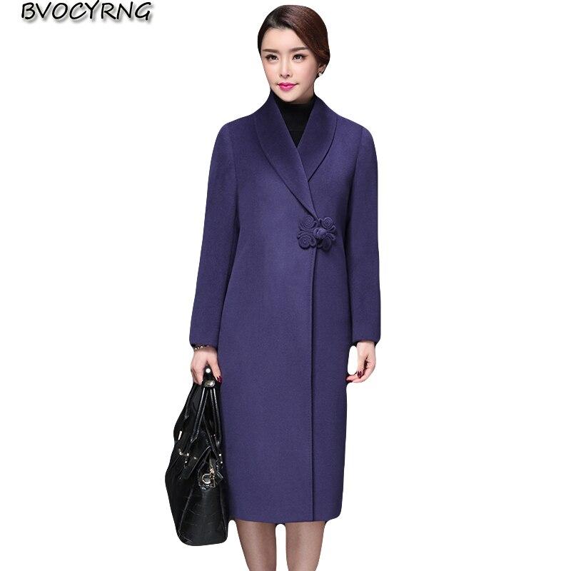 Модные Большие размеры женские шерстяное пальто 2018 осенние и зимние женские высокого класса шерсть куртка длинный тонкий элегантные женск