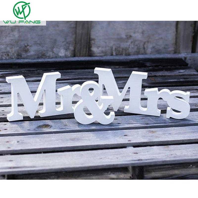 Wooden Letters Mr & Mrs Wedding decoration Romantic Marriage Birthday Mr & Mrs letters Wedding Sign