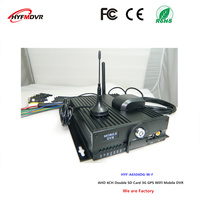 Factory direct selling ntsc/pal mdvr dual SD card surveillance video recorder 4CH 3G GPS WiFi mobile dvr