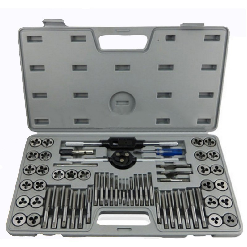 60pcs/set Multifunction Metric Screw Tap & Die Thread Cutting Tapping Hand Tool Kit with Plastic Box-in Hand Tool Sets from Tools    1