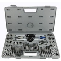 60pcs/set Multifunction Metric Screw Tap & Die Thread Cutting Tapping Hand Tool Kit with Plastic Box