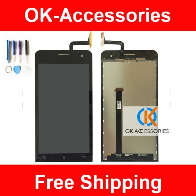 Cor preta para asus zenfone 5 display lcd + touch screen digitador assembléia com ferramentas de alta qualidade 100% 1 pc/lote