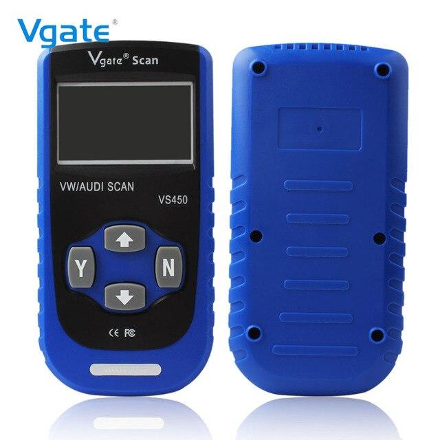 Cheap Vgate VS450 OBD2 Scanner Auto Diagnostic Tool ABS Airbag For Audi Seat Skoda VW Car Automotive Diagnosis OBD 2 OBDII Code Reader