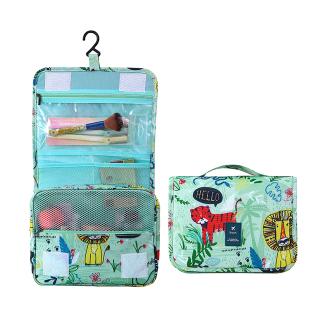 ffe4c56e3846 Cute Animal Hanging Cosmetic Bags Women Travel Beauty Brush Makeup  Organizer Professional Wash Toiletry Vanity Case Accessories-in Cosmetic  Bags & ...
