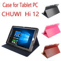 High Quality Utra Thin PU Leather Flip Cases For 12 Inch CHUWI HI12 Tablets Folio Cover
