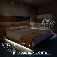 Motion Activated Bed Light Flexible LED Strip Motion Sensor Double Bed Kit With Automatic Shut Off