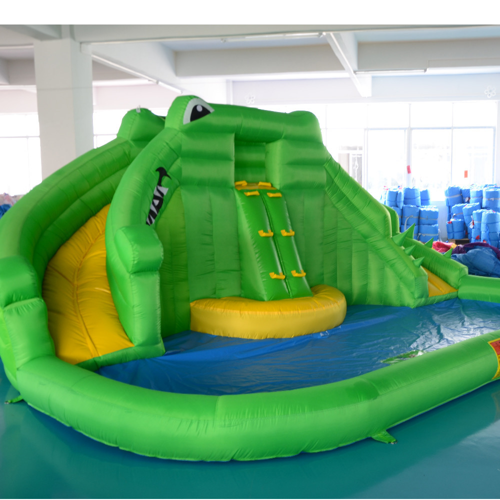 Inflatable Slide Pool Tesco: Inflatable Trampoline Water Inflatable Slides With Pool