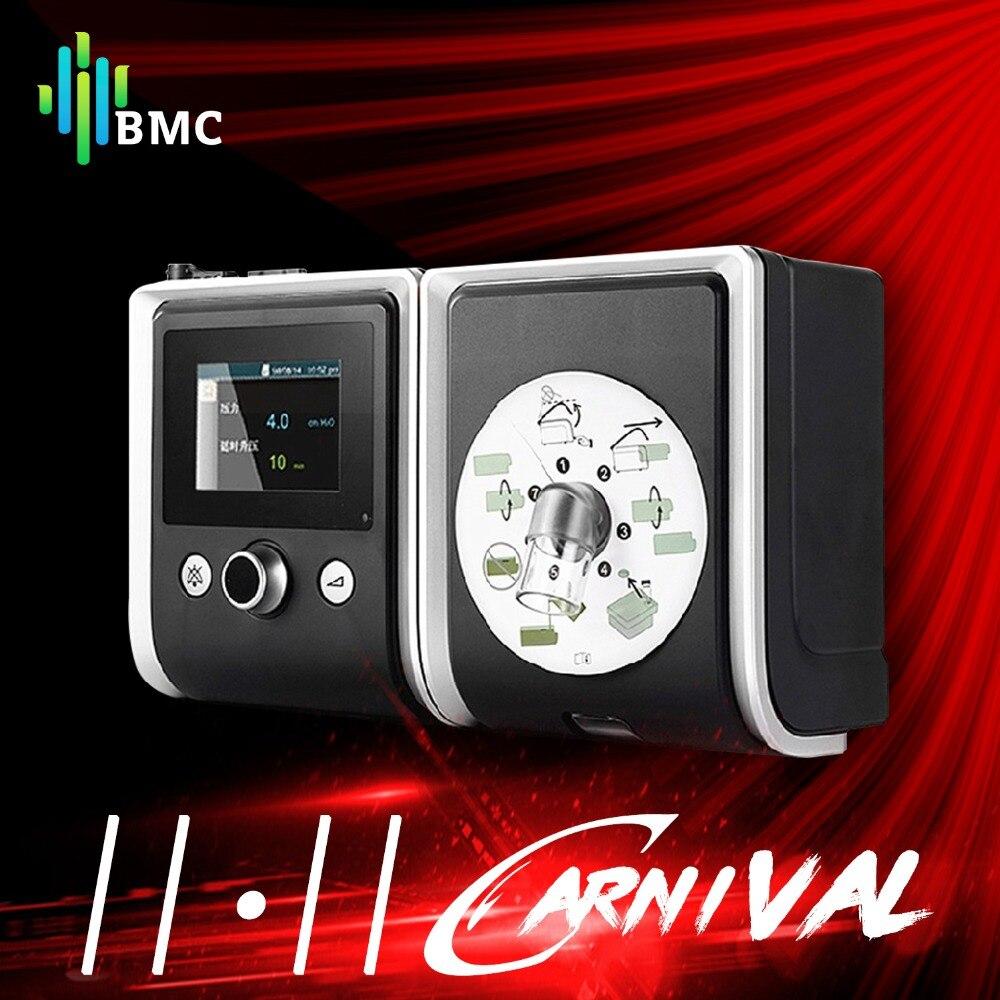 BMC GII CPAP Портативная Машина без шумы с носовой маской и трубкой и сумкой для пациентов с Апноэ Сна и храпом