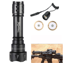 UniqueFire T20 IP65 Waterproof Flashlight Cree XP-E Aluminum Alloy 38mm Lens Flashlight Torch+2 Modes Remote Pressure
