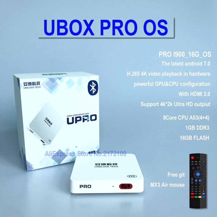 IPTV UNBLOCK UBOX 6 PRO 2 PRO2 I950 16GB Smart Android 7 0