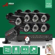 ANRAN CCTV Onvif P2P 1080P 8CH NVR POE HD 2.0 Megapixel 48 IR Night Vision Waterproof Video Surveillance Camera System 3TB HDD