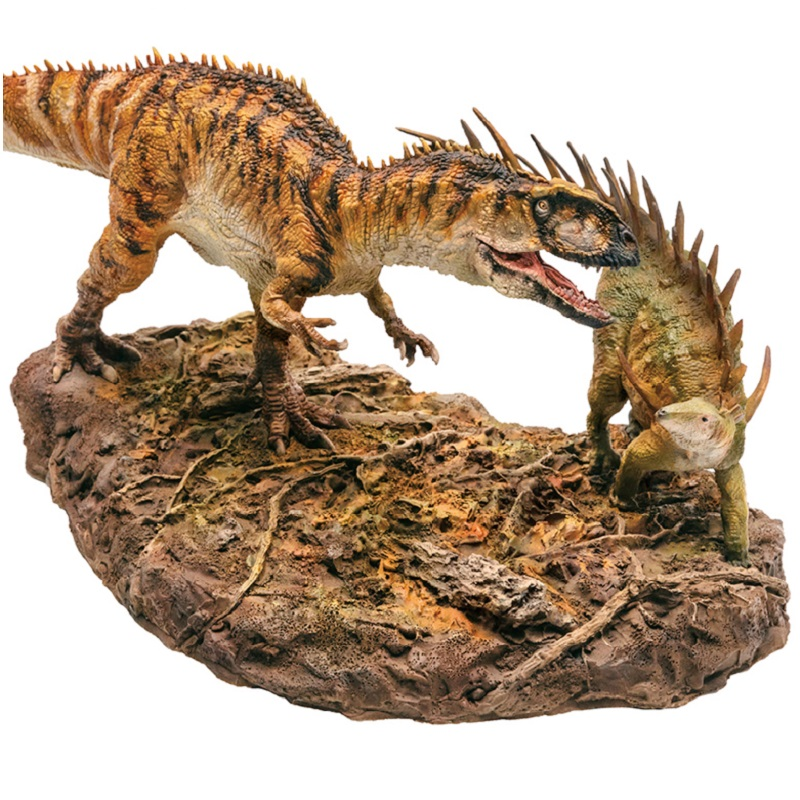 PNSO 2Pcs/set Dinosaurs Yangchuanosaurus + Chungkingosaurus 1:35 Scientific Animal Models-in Action & Toy Figures from Toys & Hobbies    2