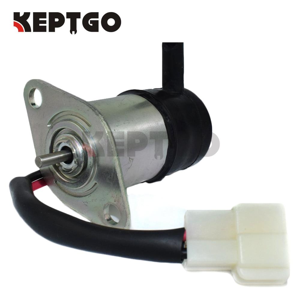 12v Fuel Shutoff Solenoid For Kubota BX23D BX2200D R310, 052600-4150, 052600-4151, 16271-60012