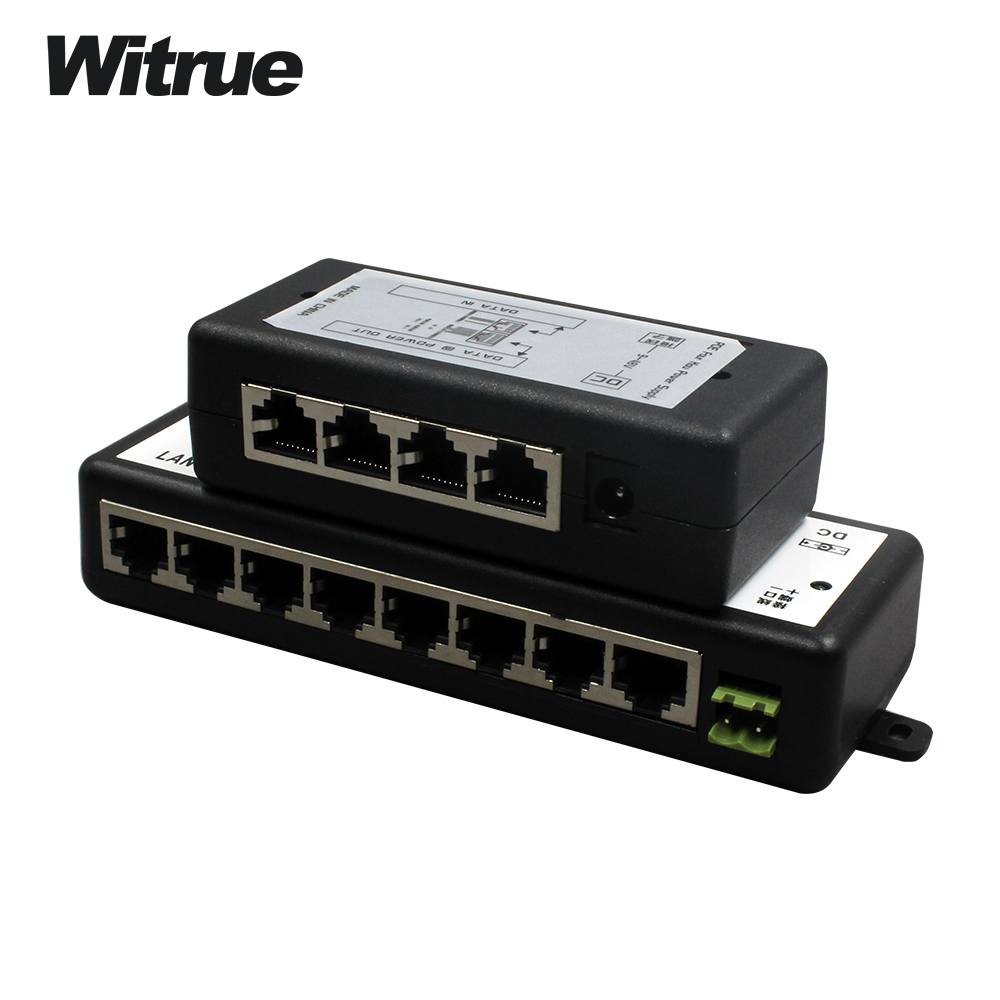 Free Shipping 4 Channel CCTV POE Injector For Surveillance Security IP Cameras Power Over Ethernet Adapter