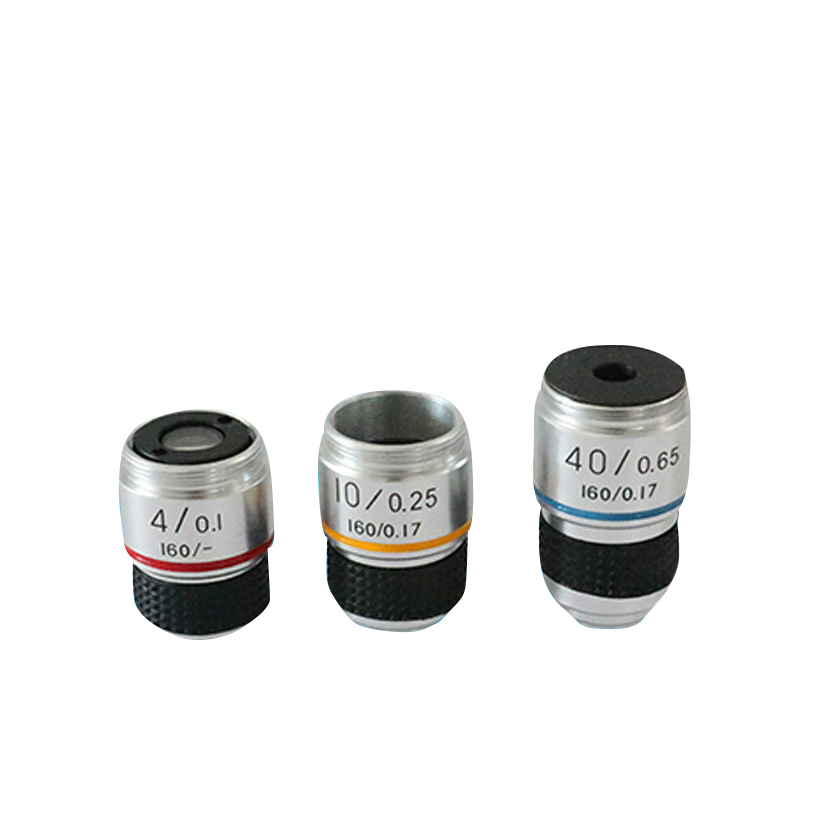 4X 10X 40X 100X Achromatic Objective Lens for Biological Microscope Accessories Objective Lens Microscope font b