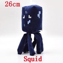 1pcs Minecraft Plush 26cm Blue Minecraft Squid Stuffed Plush Toys Doll Soft Plush Toy Brinquedos for Kids Christmas Gift