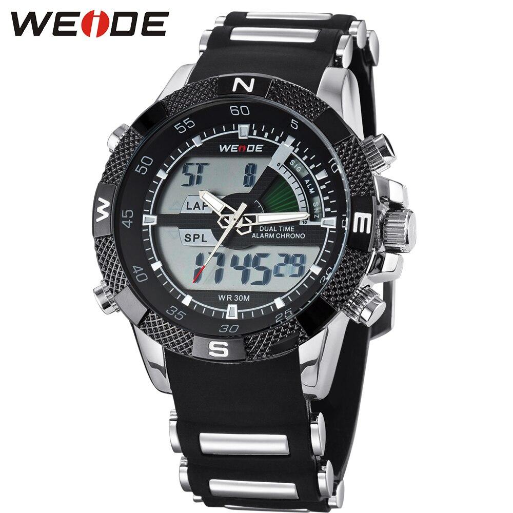 2018 Mode Weide Sport Uhr Männer Digital Quarz Led Silikon Band Wasserdicht Armee Männlichen Armbanduhren Hombre Uhr Montre Homme Moderater Preis