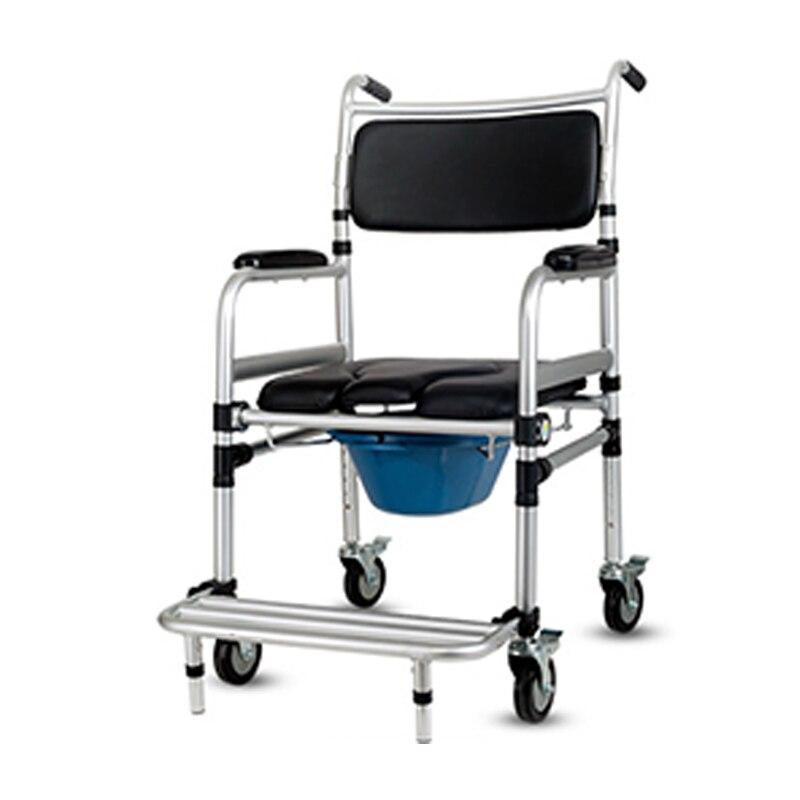 Heißer Verkauf Klapp Patienten Wc Stuhl Aluminium Legierung Einstellbar Bad Kommode Stuhl Mit Bettpfanne