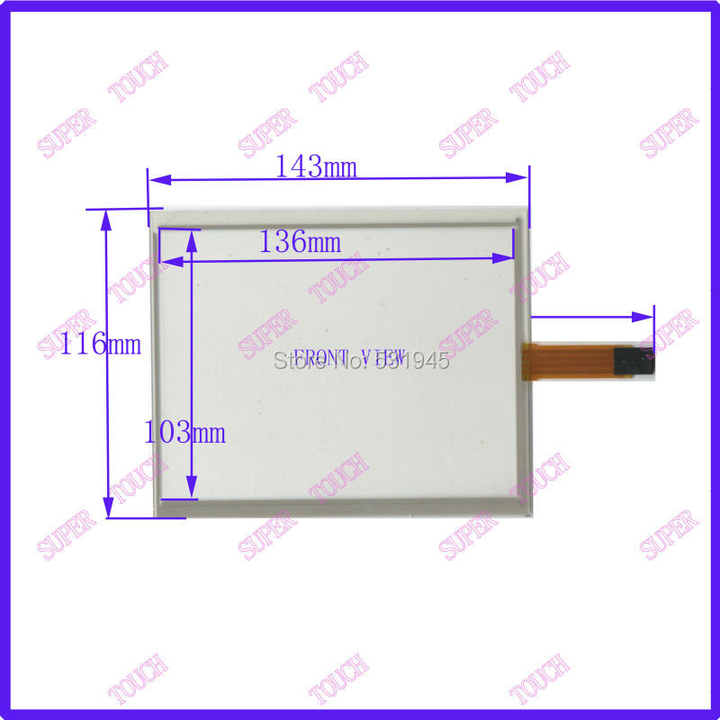ZhiYuSun 143mm*116mm touchscreens 6.4 inch 4 line touchsensor glass trade description 143*116 quality assurance image