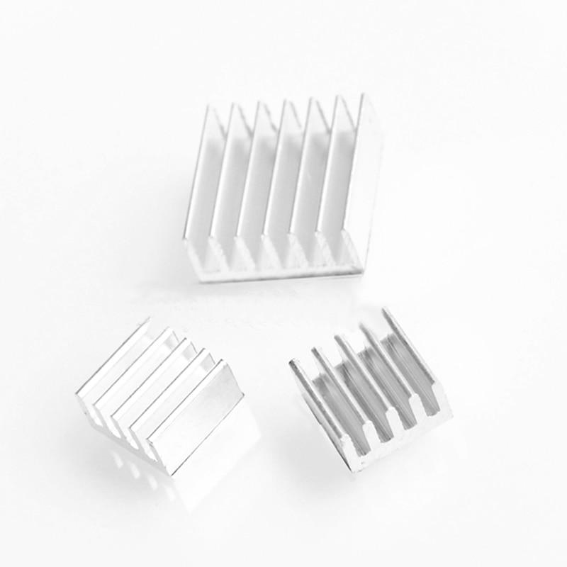 3pcs/set For Raspberry Pi Computer Cooler Radiator Aluminum Heatsink Heat Sink For Electronic Chip Heat Dissipation Cooling Pads