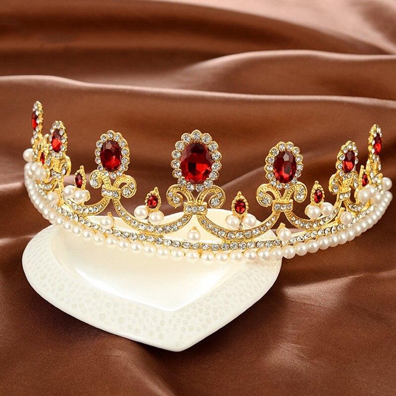New-Sale-Europe-Style-High-quality-Red-Opal-Women-Elegant-Luxurious-Wedding-Bridal-Crown-Headwear-Wedding (1)