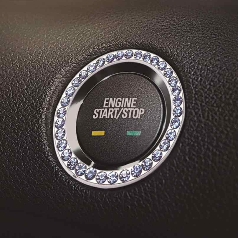 Автомобильные декоры Lgnition corrode встроенный универсальный автомобильный ключ для запуска переключателя металлического алмазного Декоративного Кольца Замена круга