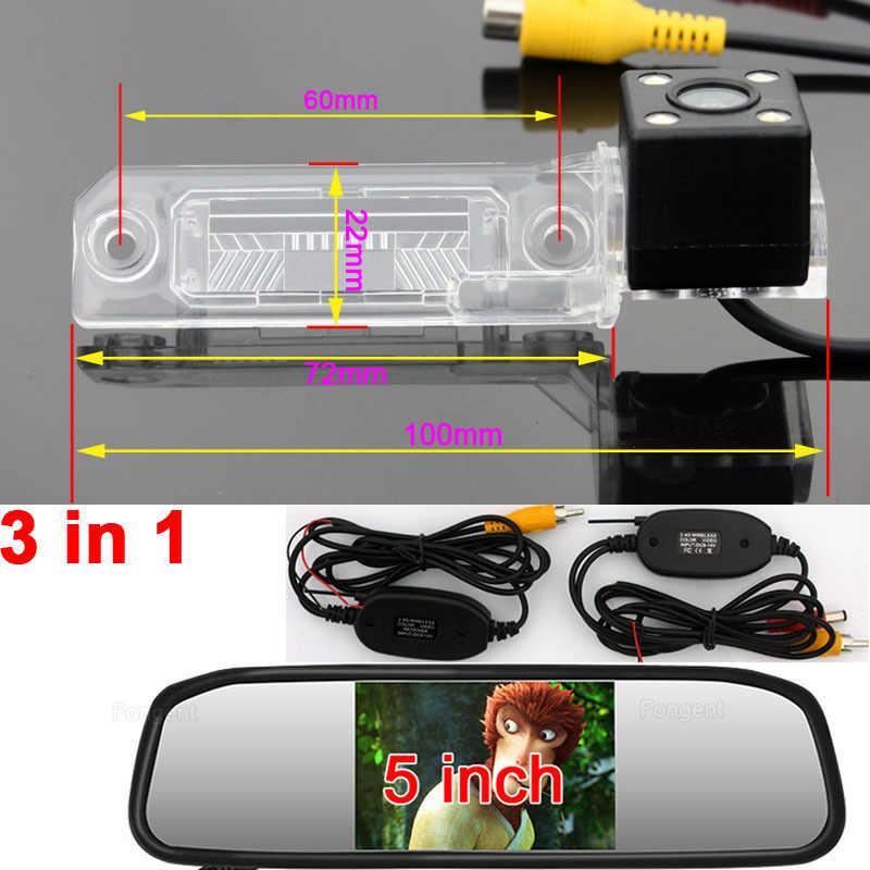 Caméra de recul sans fil pour voiture avec vue arrière pour VW Passat Sagitar Touran Passat B6 Bora Golf Jetta Superb