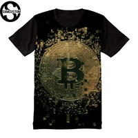 SAMCUSTOM Cryptocurrency Bitcoin Full Print T Shirt Novelty Short Sleeve Tee Tops Outfit Masculine Streetwear T