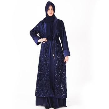 Muslim Dress Abaya Islamic Clothing For Women Malaysia Jilbab Djellaba Robe Musulmane Turkish Baju Kimono Kaftan Tunic L211