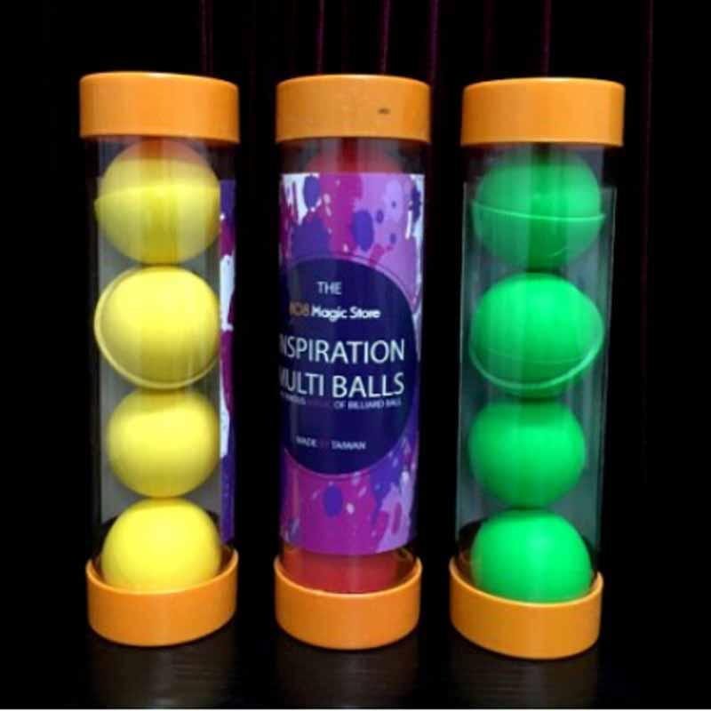 Inspiration Multi Balls - 1.75 inch,one ball to four(Red/Yellow/Green color available)- Magic tricks,accessories,stage,Mentalism new and original e3t fd12 omron photoelectric sensor photoelectric switch 12 24vdc 2m