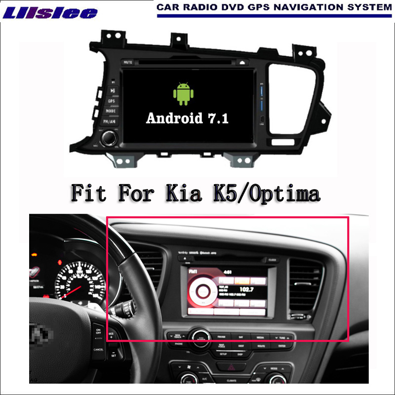 Liislee Android 7.1 2 г Оперативная память для KIA K5/Optima 2011 ~ 2013 Радио Аудио Видео Мультимедиа DVD плеер WI-FI GPS Navi навигации