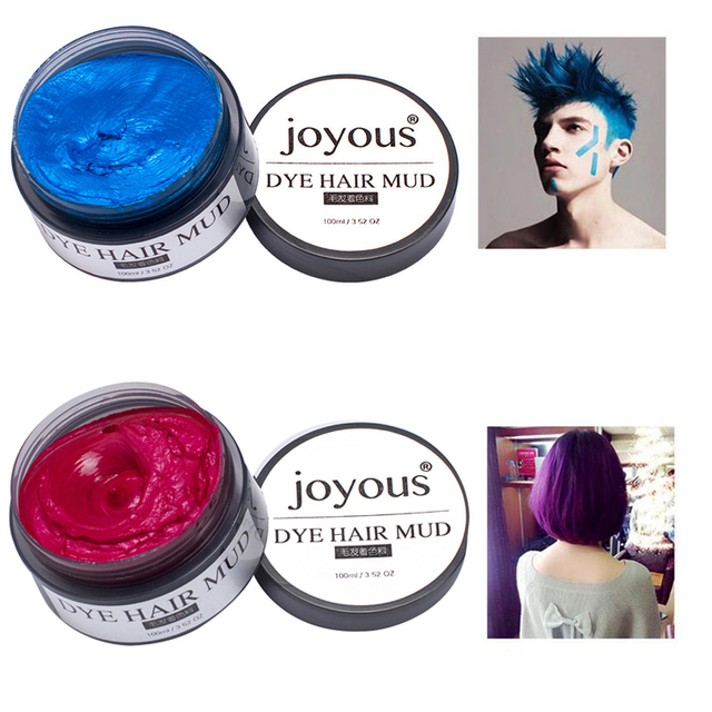 1pc Disposable Hair Cream With Fashion Color For Men Makeup Temporary Chalk Paint 5 Colors M02298