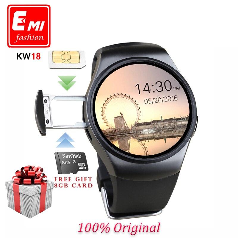 Prix pour E mi original kw18 pleine ronde ips coeur taux smart montre mtk2502 bt4.0 smartwatch pour ios et android samsung intelligent montre