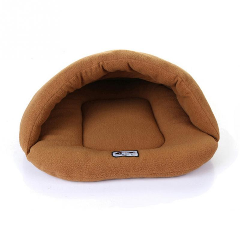 Image 5 - Soft Fleece Winter Warm Pet Dog Bed 4 different size Small Dog Cat Sleeping Bag Puppy Cave Bed Free shipping-in Houses, Kennels & Pens from Home & Garden