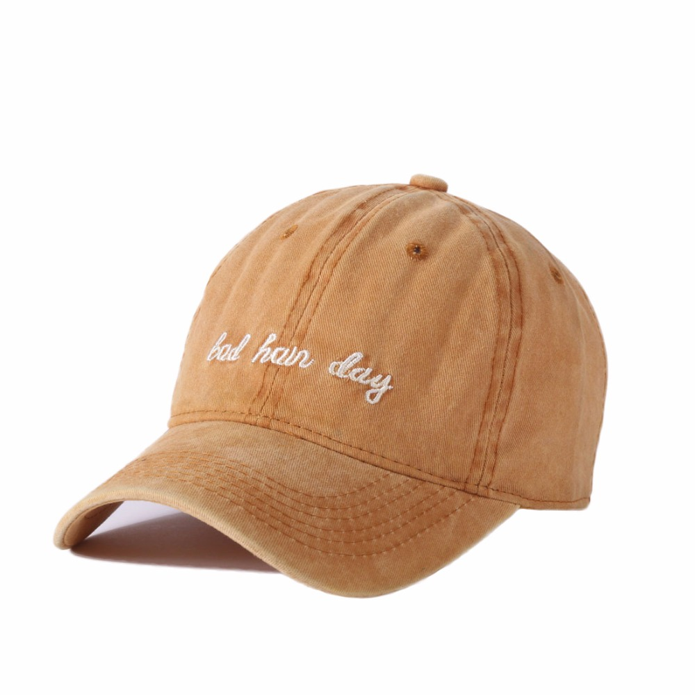 Summer Solid Color Baseball Cap Women Unisex Washed Cotton Sun Hats Letter Adjustable Couple Cap Fashion Dad Snapback Cap Lover