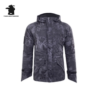 Military Mens Camouflage Winter Jacket Thicken Hoodies Horseshoe Cuff G8 Windproof Waterproof Fleece Jacket Men Outwear