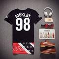Hip Hop T Shirt Long T-shirt Men Short Sleeve Streetwear Skateboard T shirt Swag Letters Fashion Hip-hop Tee Shirts