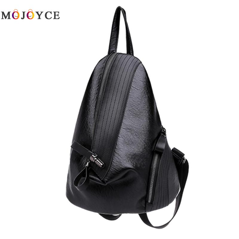 Chic Creative Zipper Open Design Women Backpack Girls Small Size Casual Soft Pu Leather Backpack Female Mochila Feminina #2