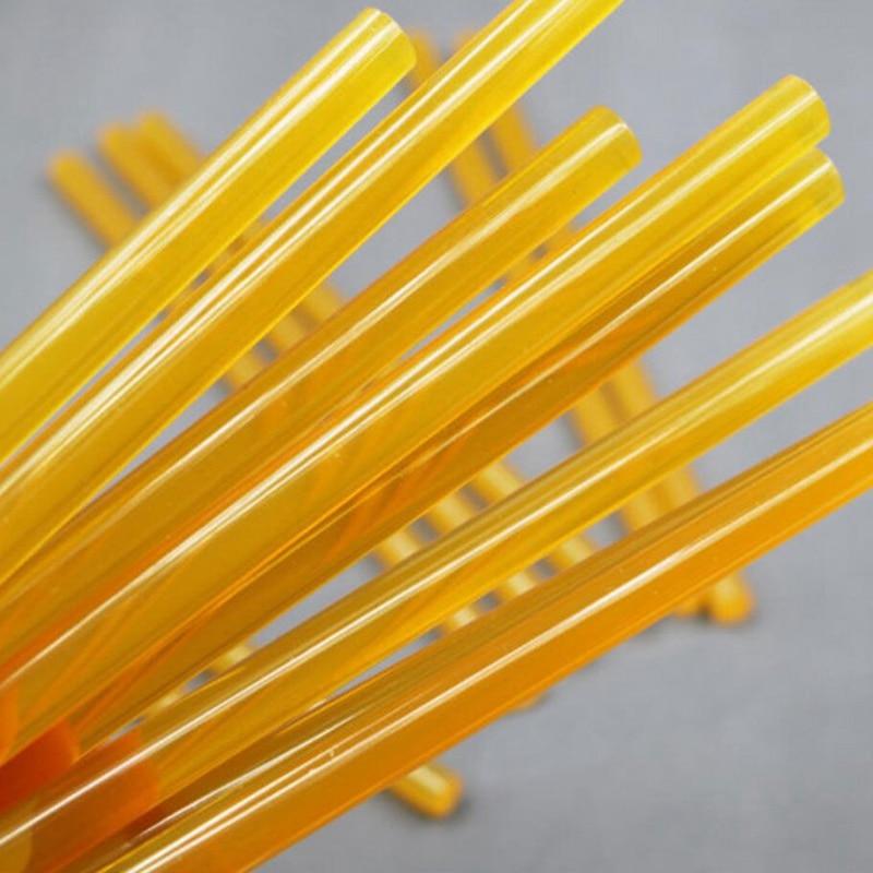 5pcs Yellow Hot Melt Glue Stick Car Body Paintless Dent Repair Puller Tool For Electric Glue Gun Craft Album Glue Sticks