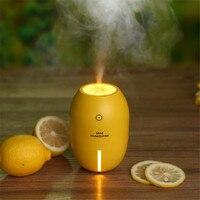 Tuansing 180ML Lemon Mini USB Portable Ultrasonic Humidifier DC 5V LED Light Air Freshener Purifier Mist